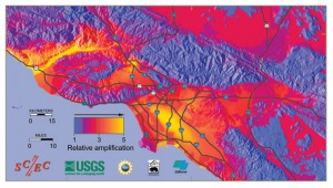 los angeles earthquake map